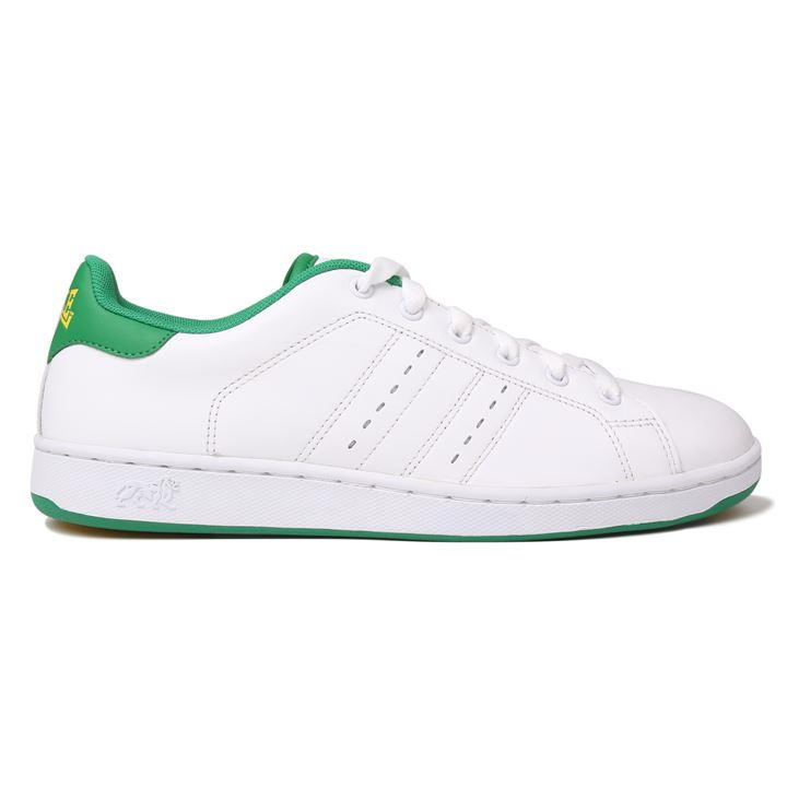 Lonsdale Leyton Leather Mens Trainers WhiteGreen Boy Men Loafers Shoes Breathable Casual New 165033
