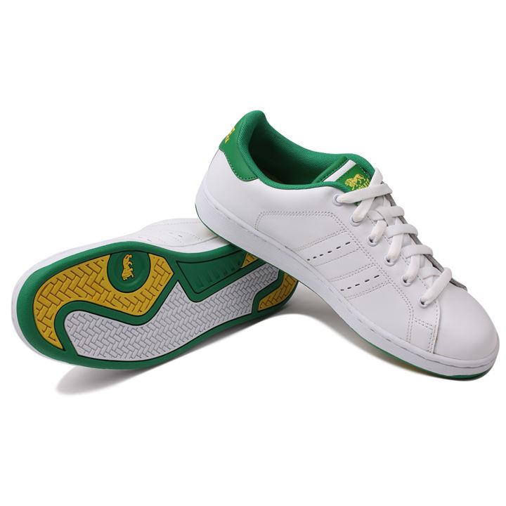 Lonsdale Leyton Leather Mens Trainers WhiteGreen Boy Men Loafers Shoes Breathable Casual New 165033_2