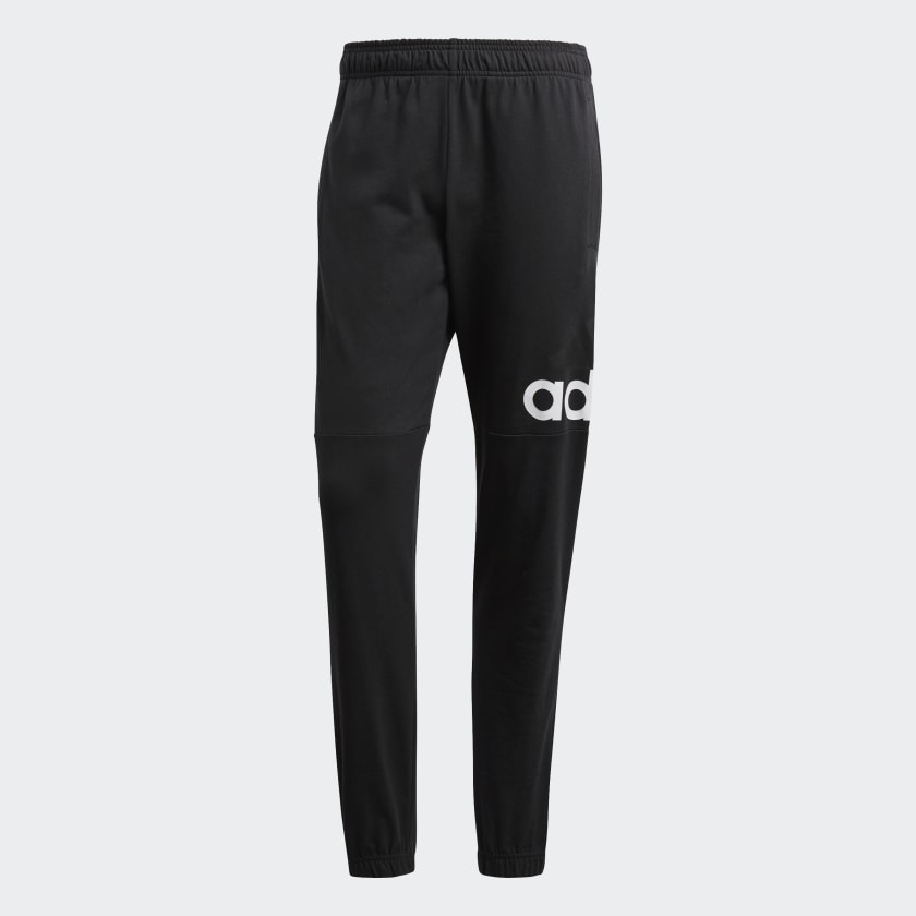 Essentials_Performance_Logo_Joggers_Black_B47217_01_laydown